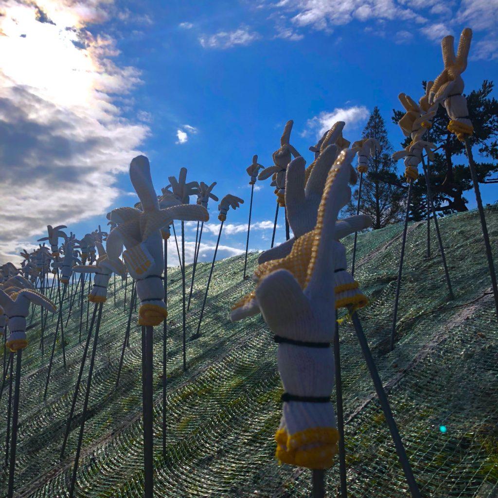 六甲ミーツ・アート2018大木土木とミツヤ電機《おしゃまなユンボ》